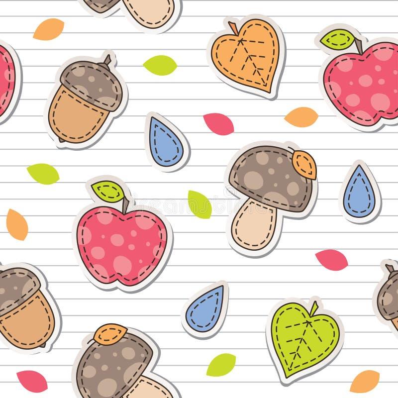 Download Autumn pattern stock vector. Image of rain, scrapbooking - 26277653