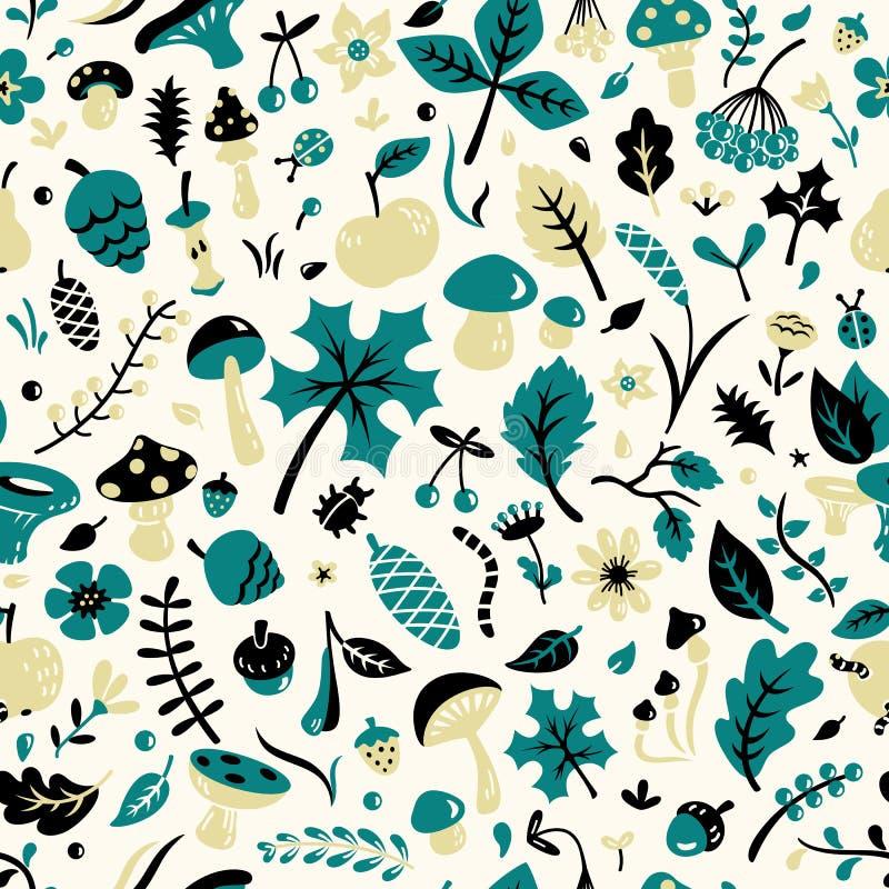 Autumn Pattern ilustração do vetor