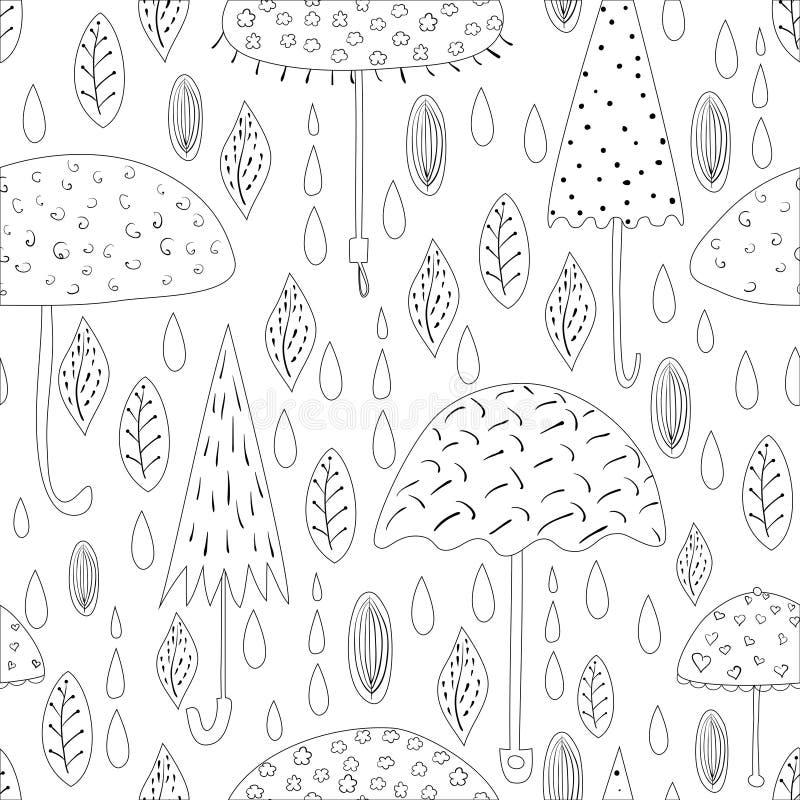 Autumn Pattern stock illustrationer