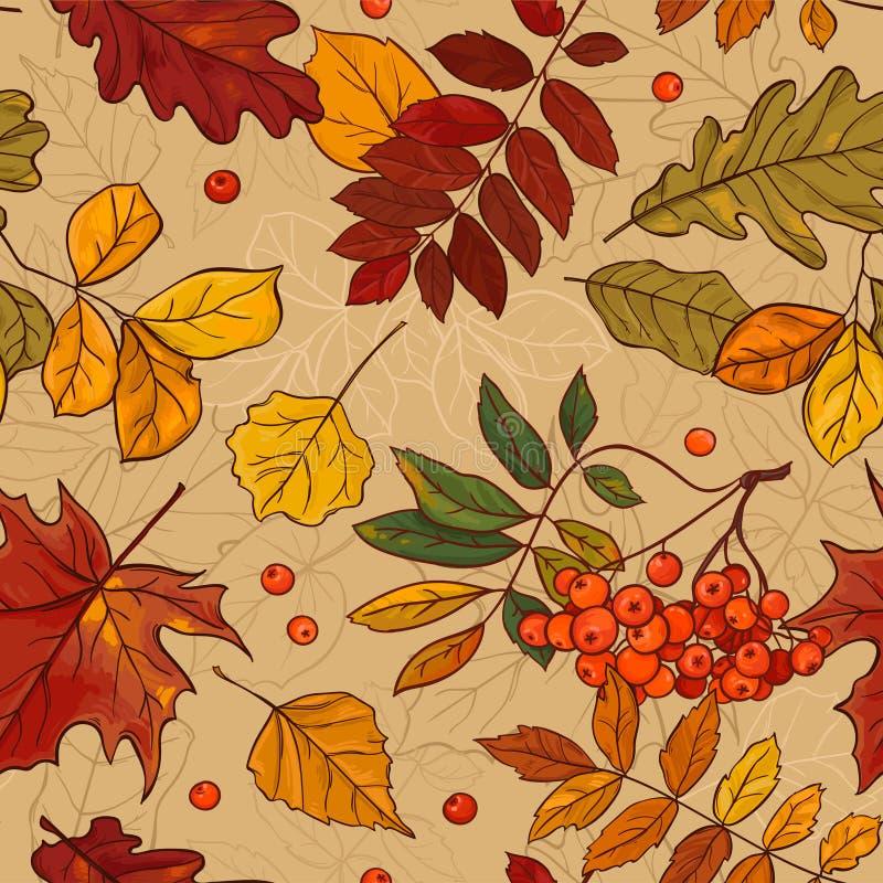 Autumn Pattern stock de ilustración