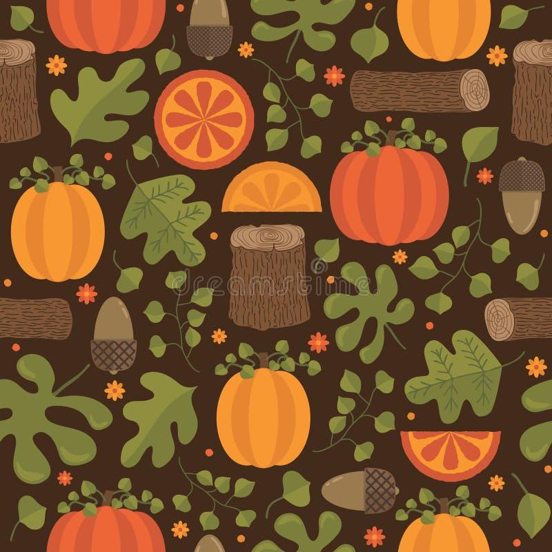 Autumn Pattern lizenzfreie abbildung