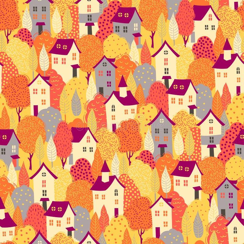 Autumn Pattern royalty-vrije illustratie