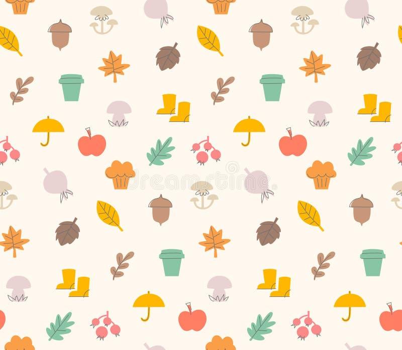 Autumn pattern stock illustration