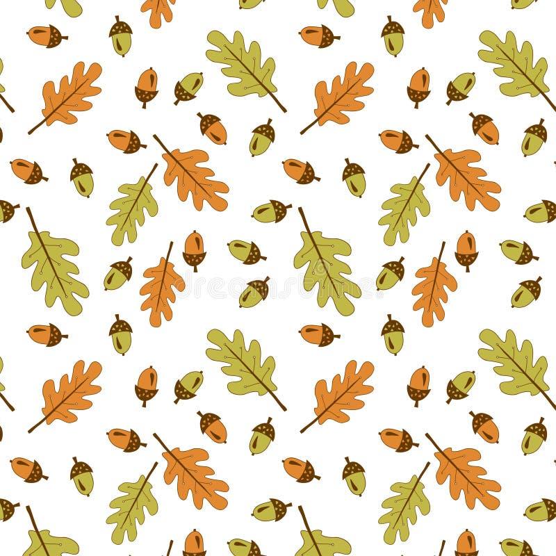 Autumn Pattern Gele eiken stock afbeeldingen
