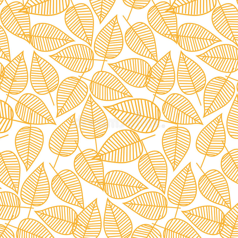 Autumn pattern from leaves. Vector illustration. Seamless background. stock illustration