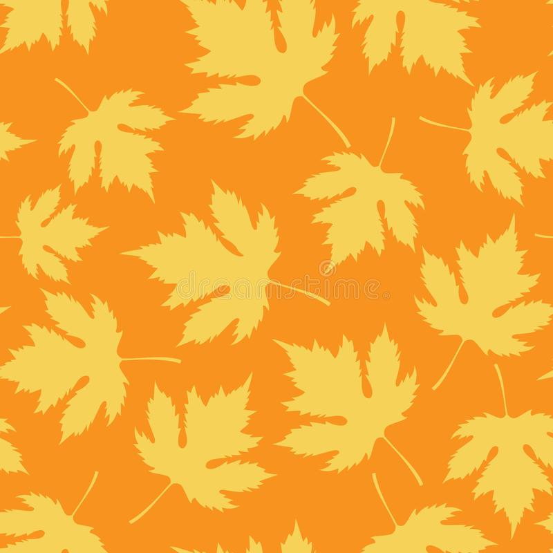 Autumn Pattern senza cuciture con le foglie cade royalty illustrazione gratis