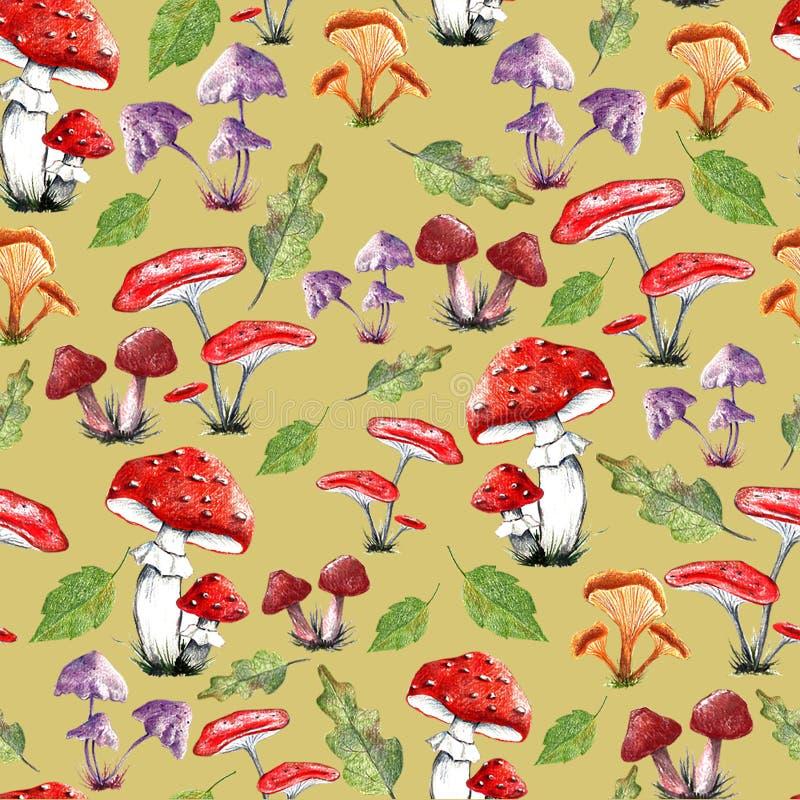 An autumn pattern royalty free illustration