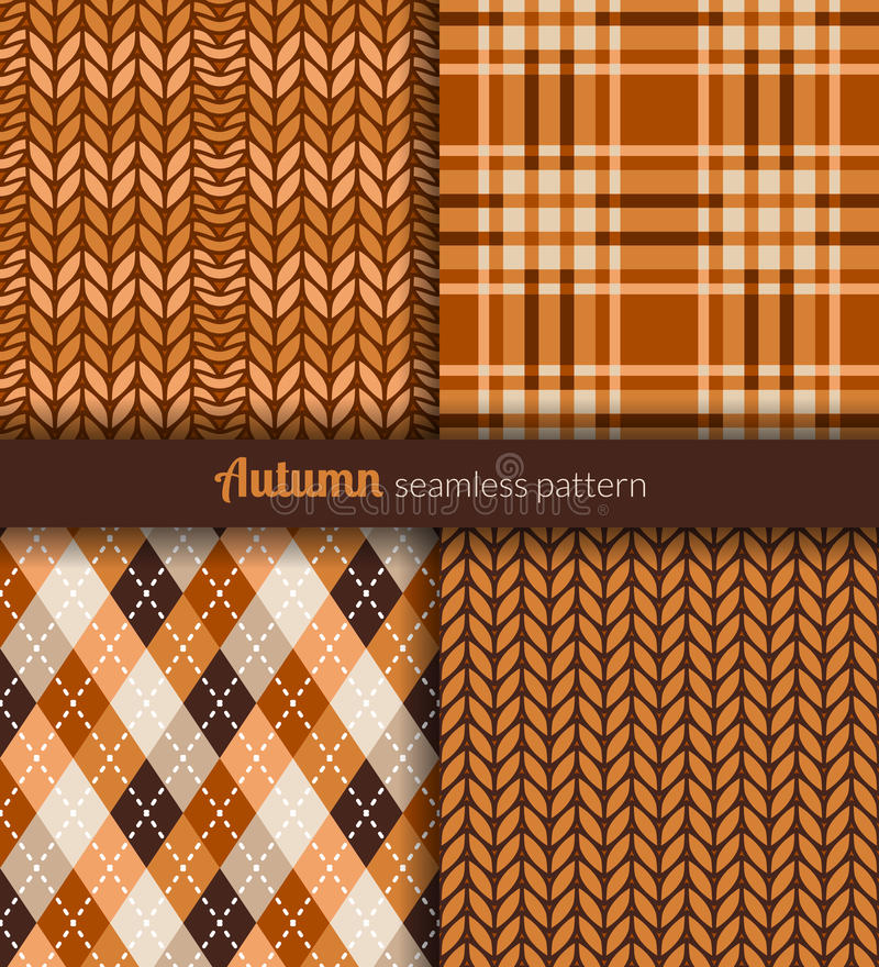 Autumn patterns stock vector. Illustration of knitwear - 35127072
