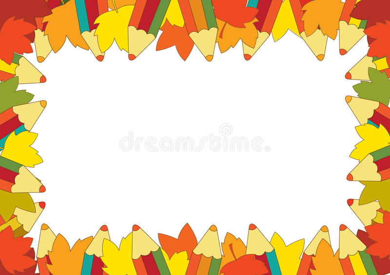Download Autumn Pencil Frame Stock Photo - Image: 25238320
