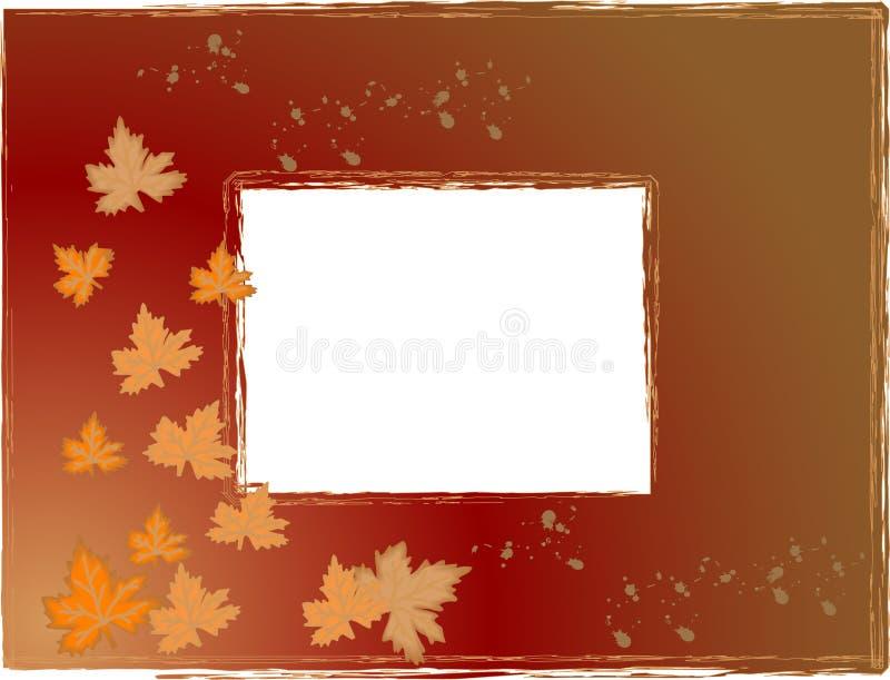 Autumn photo frame stock illustration