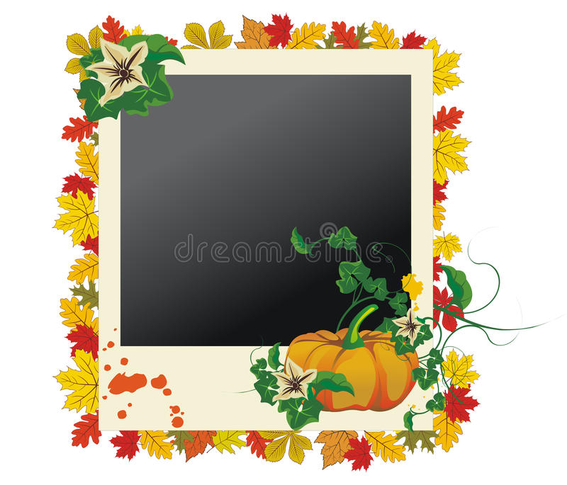 Download Autumn Photo Frame With Leaves And Pumpkin Stock Vector - Illustration: 11627071