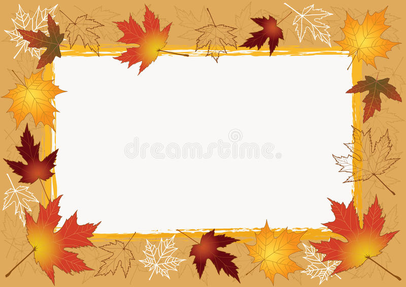 Download Autumn photoframework. stock vector. Illustration of color - 11392749