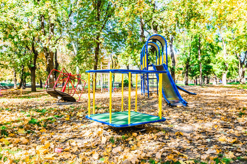 Download Autumn playground stock image. Image of green, gold, nature - 41202679
