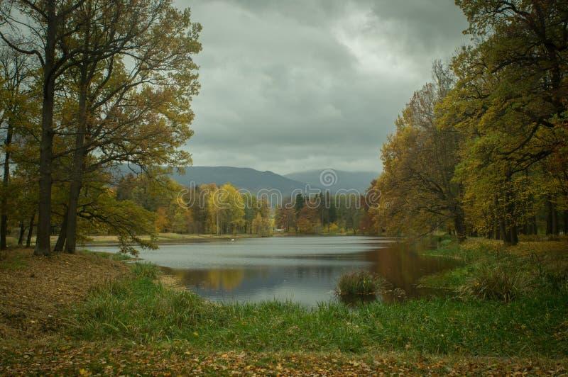 Autumn in Poland. Autumn view on the mountains royalty free stock image