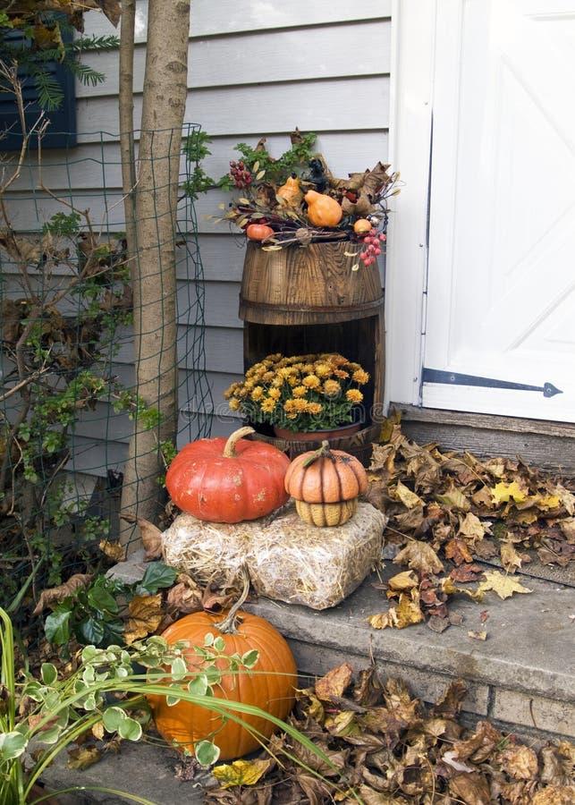 Autumn Porch Display fotografía de archivo