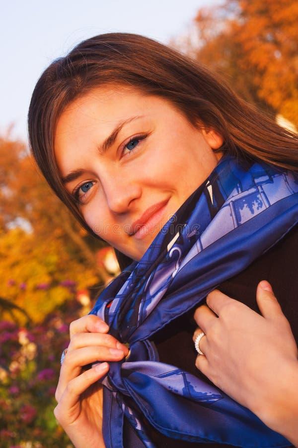 Download Autumn portrait stock image. Image of jacket, stewardess - 3451037