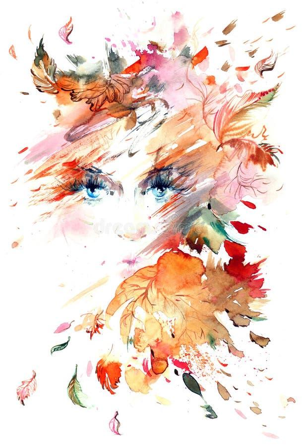 Autumn Portrait illustration de vecteur