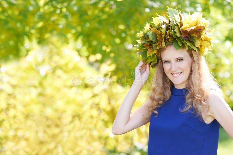 Autumn Portrait Jong meisje royalty-vrije stock afbeeldingen