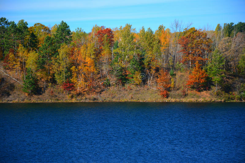 Autumn At Portsmouth Mine Lake - Minnesota royalty free stock photos