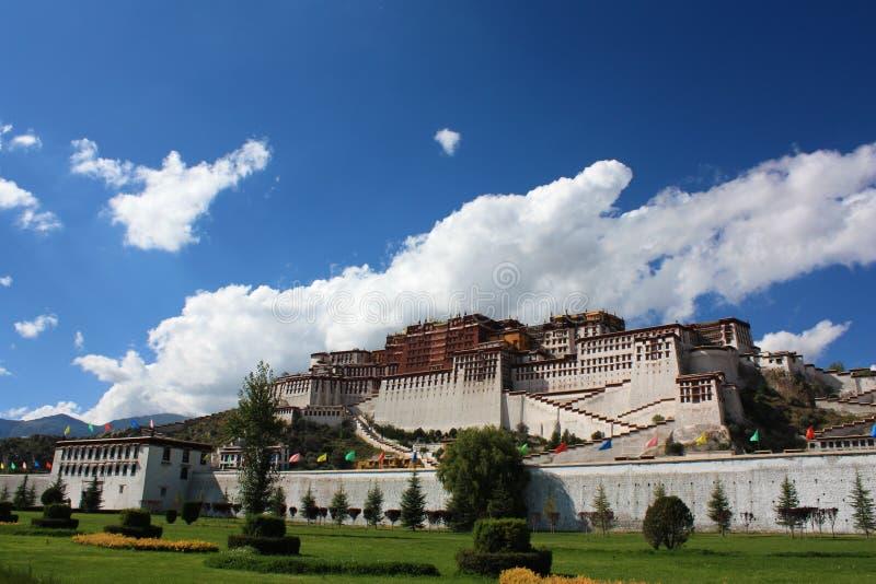 Autumn potala palace royalty free stock photography