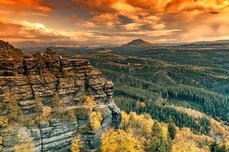 Autumn Pravcice Gate fotos de stock royalty free