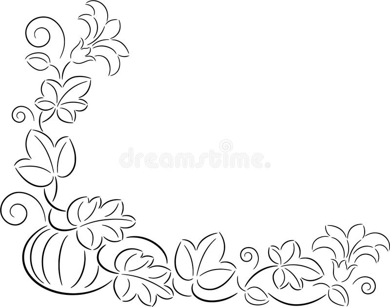 Autumn pumpkin royalty free illustration