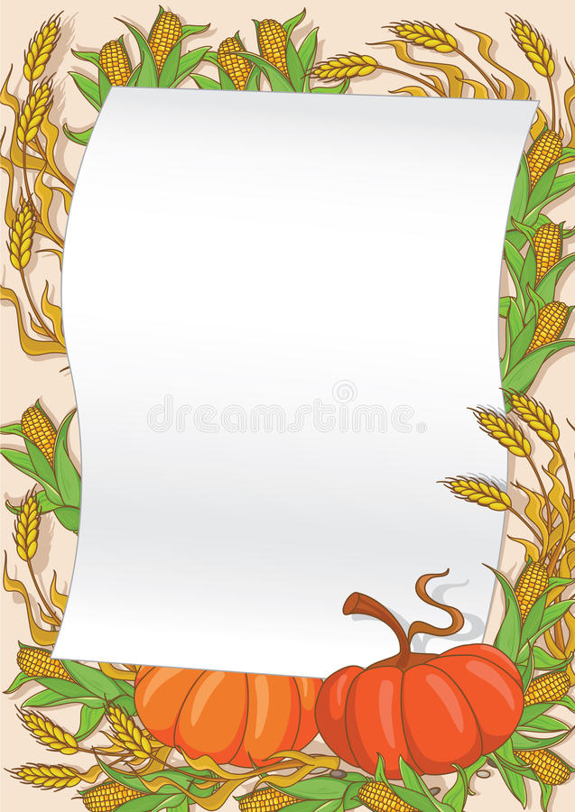 Download Autumn And Pumpkin Background Stock Vector - Illustration of banner, harvest: 22173466