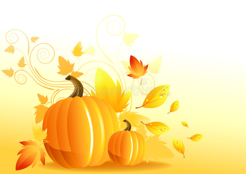 Autumn Pumpkin Elements royalty free stock images