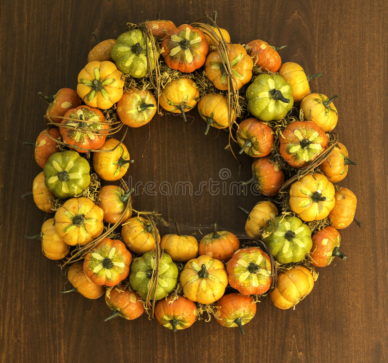 Autumn pumpkins decoration royalty free stock photo