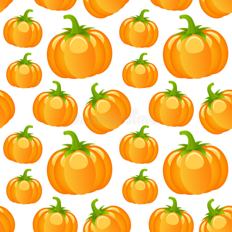 Autumn Pumpkins Seamless Pattern ilustración del vector