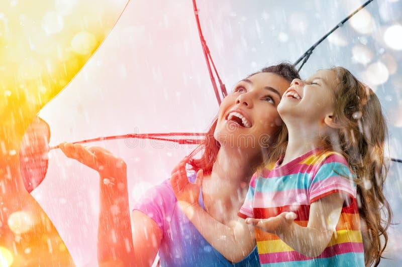 Autumn rain stock image
