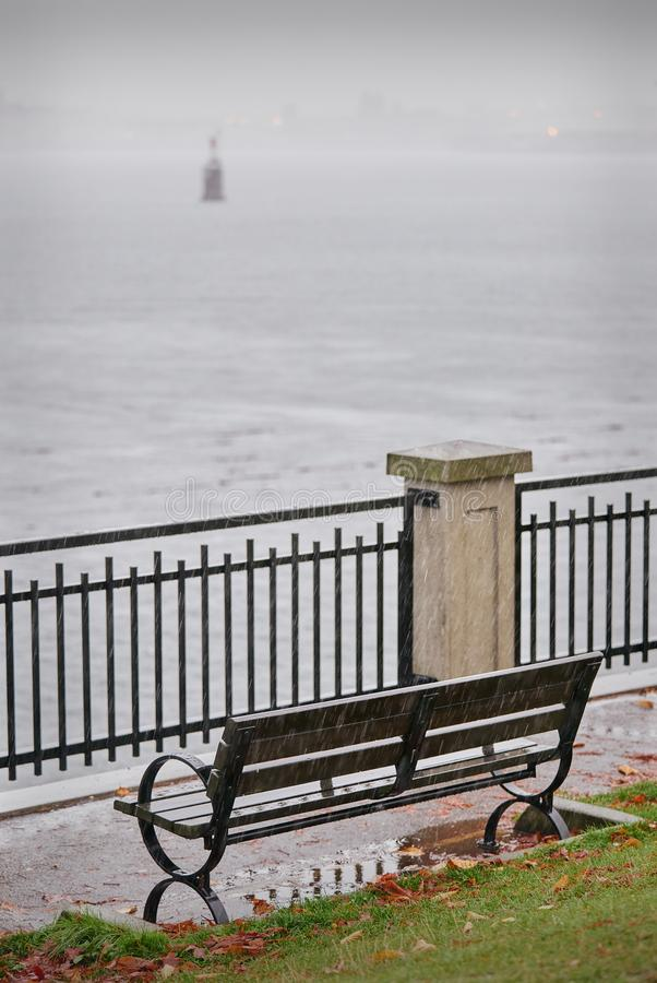 Autumn Rain, Vancôver foto de stock royalty free