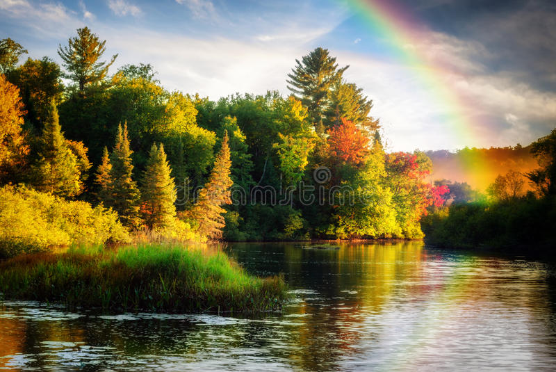 Autumn Rainbow image stock