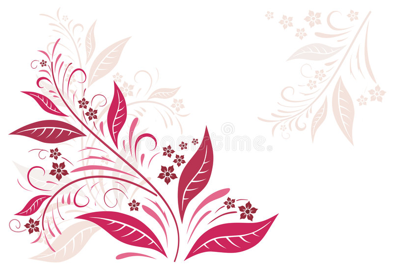 Autumn in red stock illustration