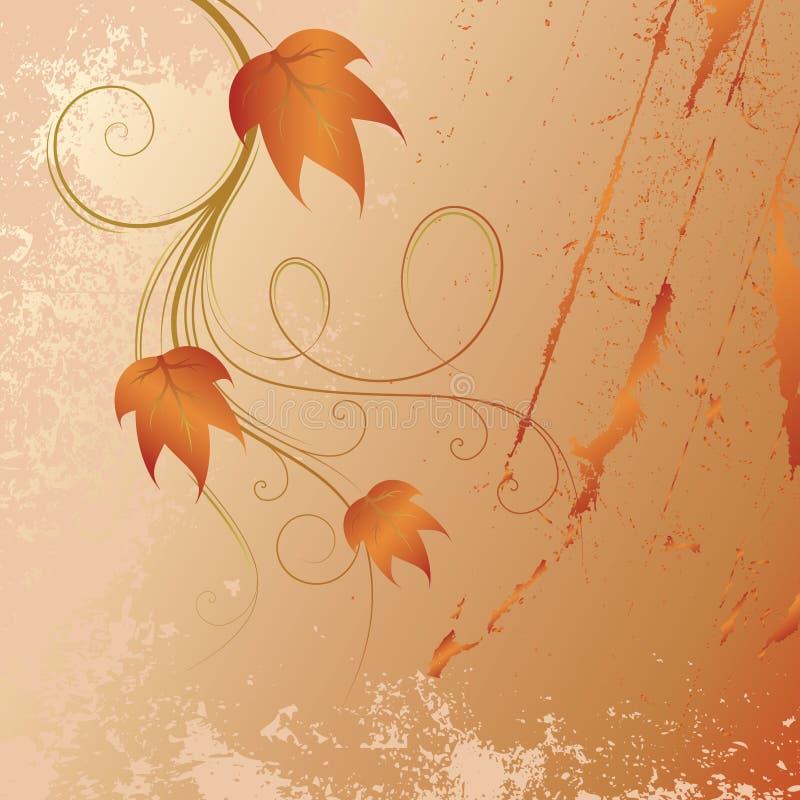 Autumn red brunch vector illustration