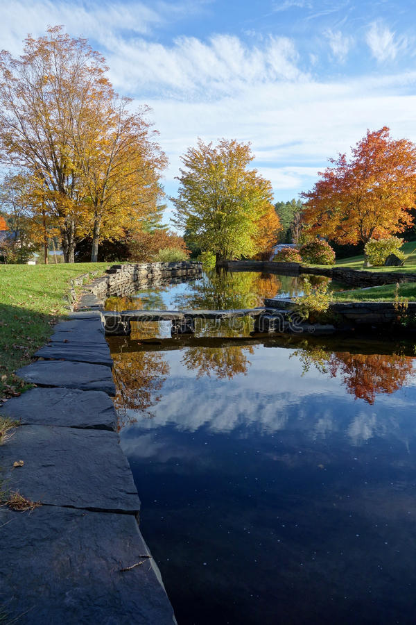 Autumn Reflection Pond stock images