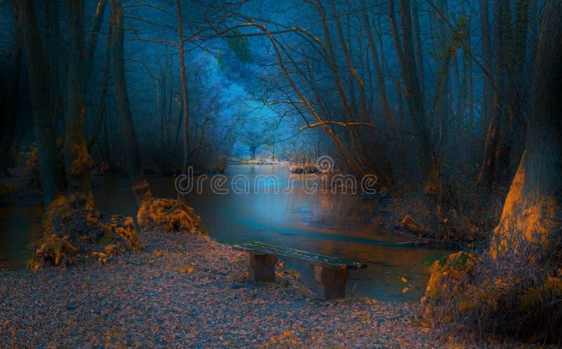 Autumn River fotos de archivo