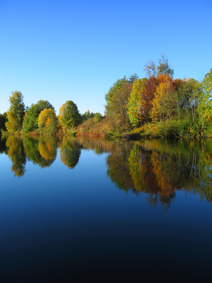 Autumn river scenery royalty free stock photos