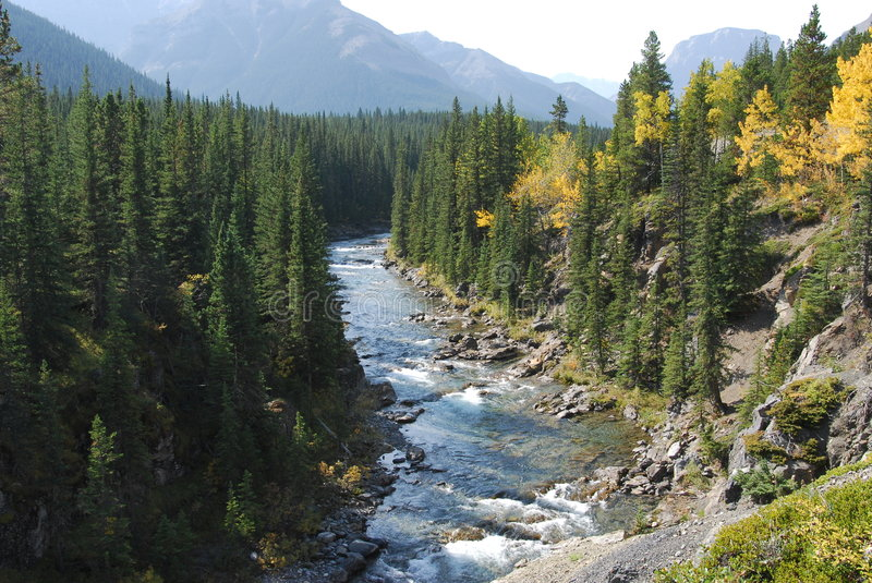 Download Autumn river valley stock photo. Image of rock, canadian - 6953702
