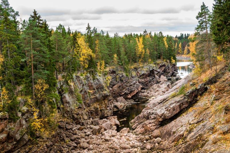 Autumn rocky canyon royalty free stock photos