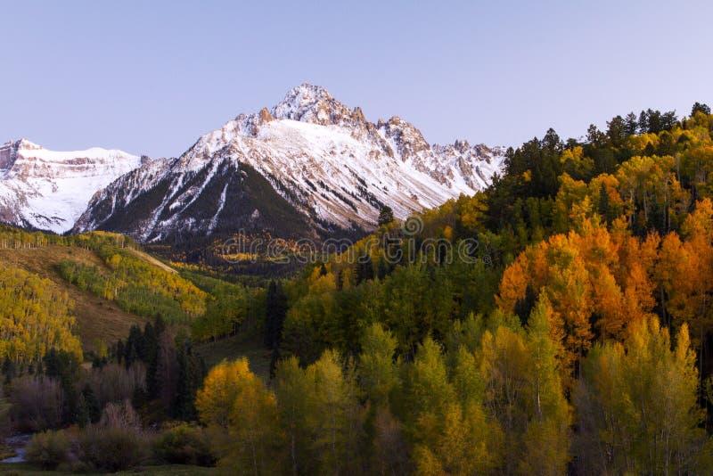 Autumn in the Rocky Mountains Evening Sun Colorado royalty free stock photos