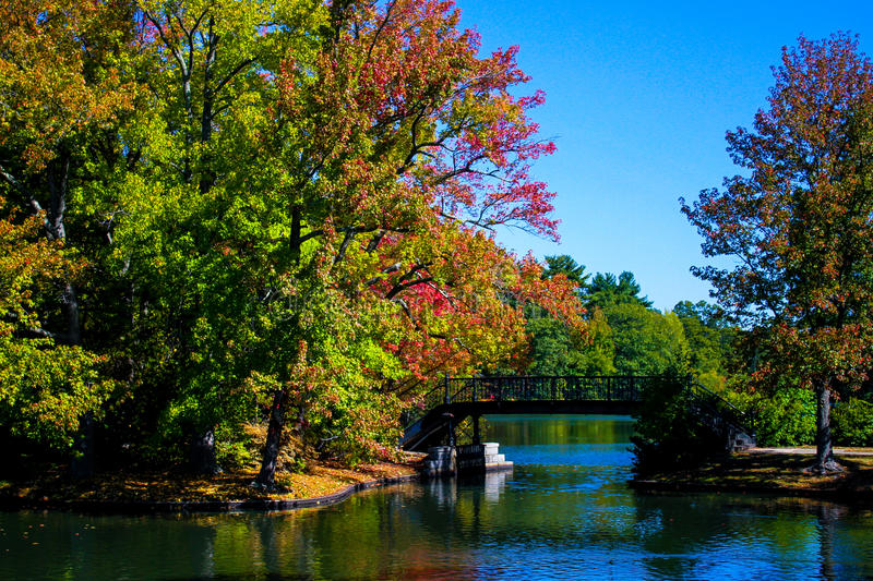 Autumn at Roger Williams Park. The leaves are changing color as fall sets in at Roger Williams Park in Providence, RI royalty free stock photos