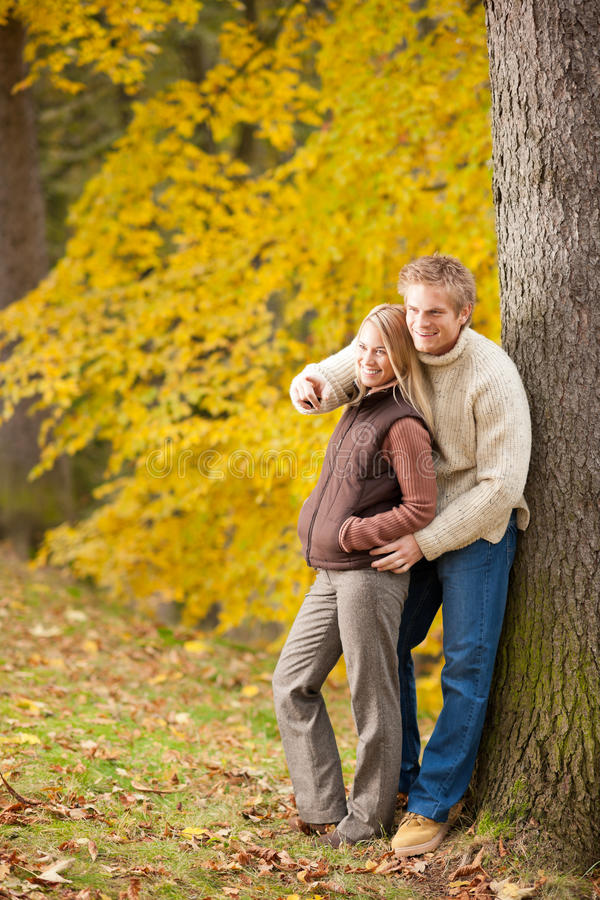 Download Autumn Romantic Couple Smiling Together In Park Royalty Free Stock Images - Image: 21954999