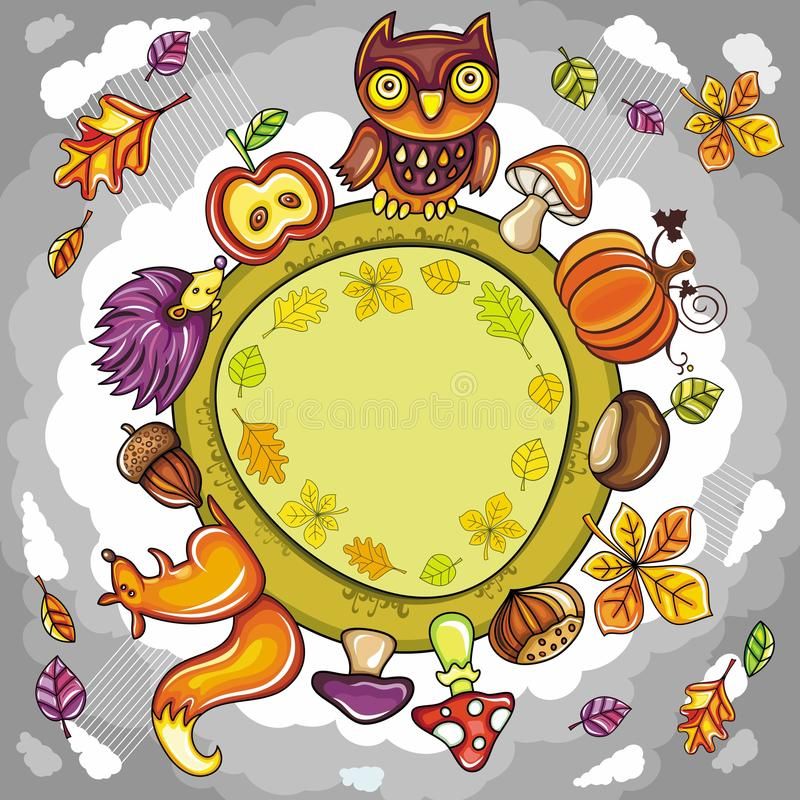 Download Autumn round planet stock vector. Image of child, border - 20666484