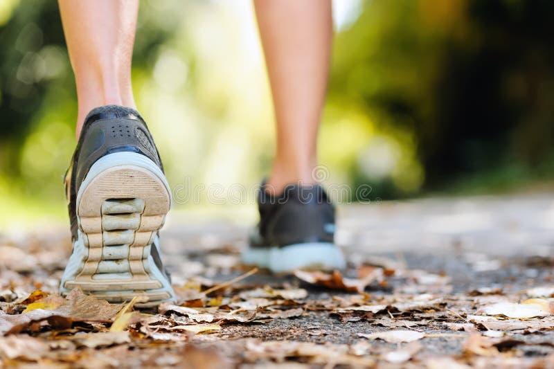Autumn runner feet stock images
