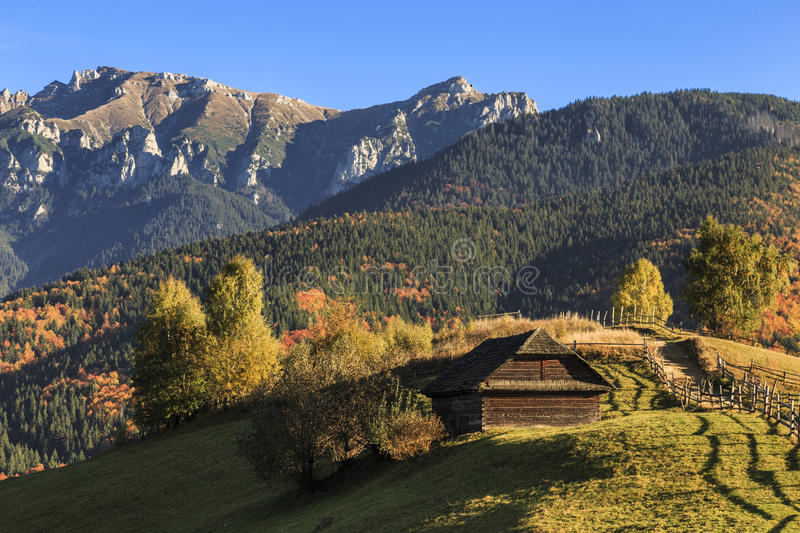 Download Autumn Rustic Landscape In Carpathian Mountains Transylvania Romania Stock Image