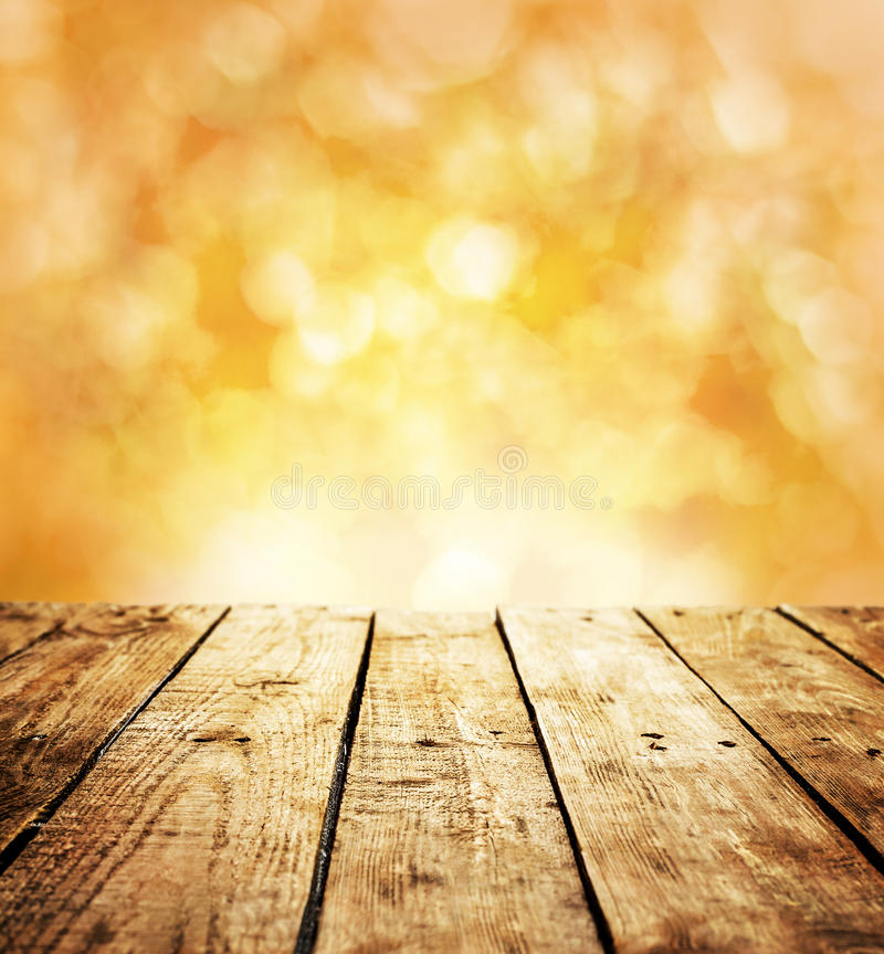 Free Autumn Rustic Template Background With Wooden Table And Text Space Royalty Free Stock Images - 36074549