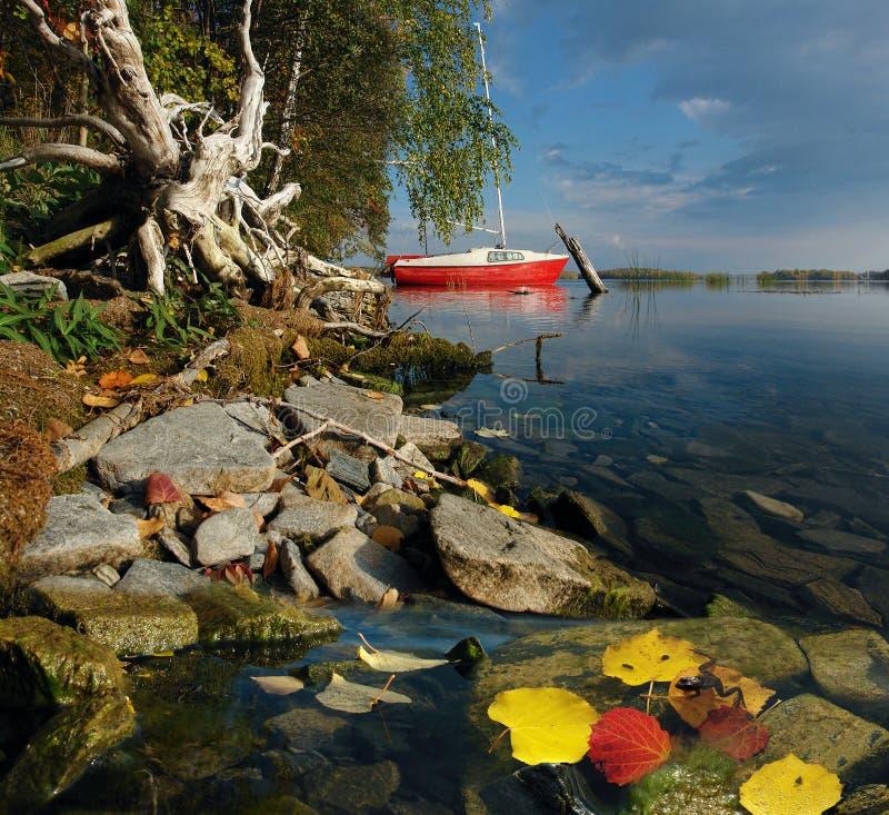 Autumn Sailboat imagen de archivo