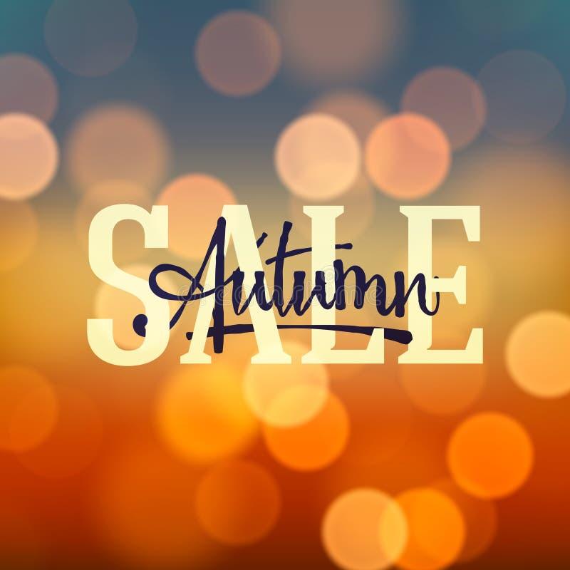 Autumn Sale-affiche royalty-vrije illustratie