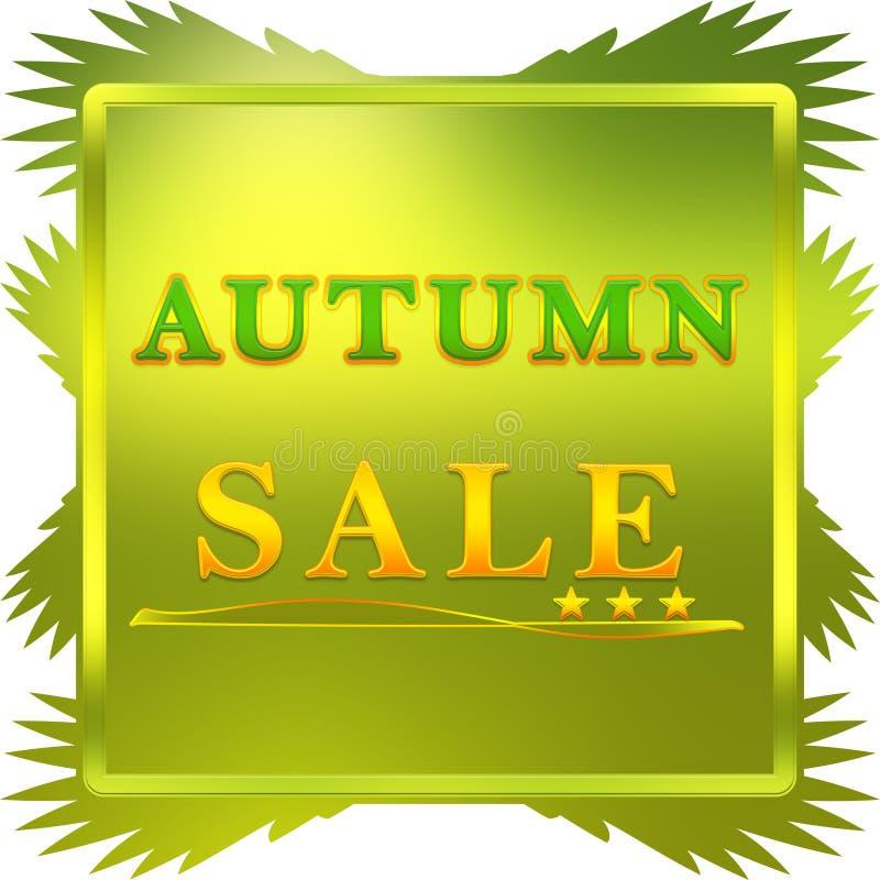 Autumn Sale affisch vektor illustrationer